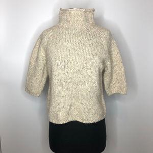 Classiques Entier Wool Blend Short Sleeve Sweater